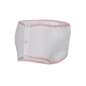 Girls drop down incontinence care underwear - popper side fastening