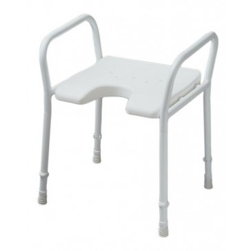 Ross Shower stool with arm rests and height adjustable legs