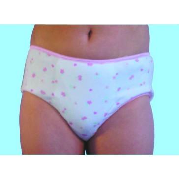 Girls Concealed padded brief - children incontinence underwear absorbent - pink hearts pattern