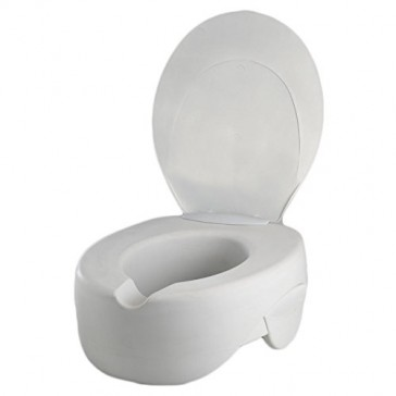 Rehosoft Raised Toilet Seat with Lid