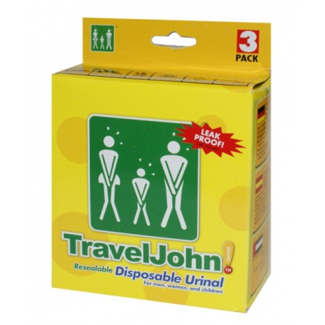 and children women TravelJohn 3 Pack Resealable Disposable Urinal for men