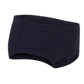 Boys Concealed padded brief - Children's absorbent incontinence underwear - Navy - Side view of pant