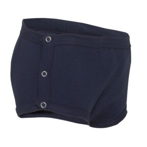 Boy's Training Pant with side fastening - Children's absorbent incontinence underwear - navy - Side view of pant