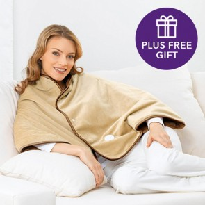 Beurer Cosy Heated Cape plus free gift of Marble Hill HandSalve 100% natural skincare