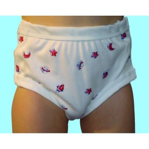 Boys Childrens Drop down side fastening incontinence underwear