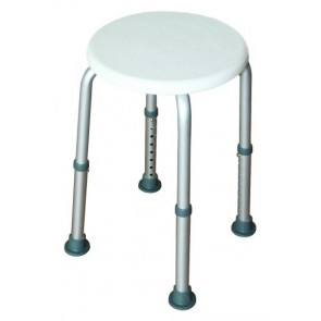 Metro Shower Stool with wide non slip ferrule tips and easily height adjustable legs