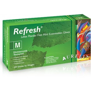 Aurelia Refresh Mint Latex Powder Free Gloves