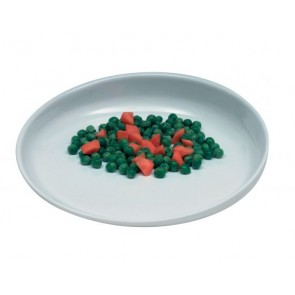 ScoopDish plate with raised rim at one side.