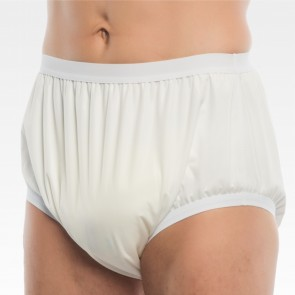 Unisex PU waterproof protective underwear for severe incontinence over diaper pant