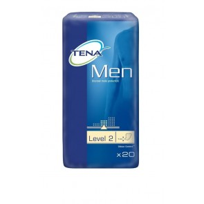 Tena for Men Level 2 absorbent pads offer reliable protection against dribble incontinence