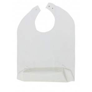 Terry Cloth Bib with Food Catcher